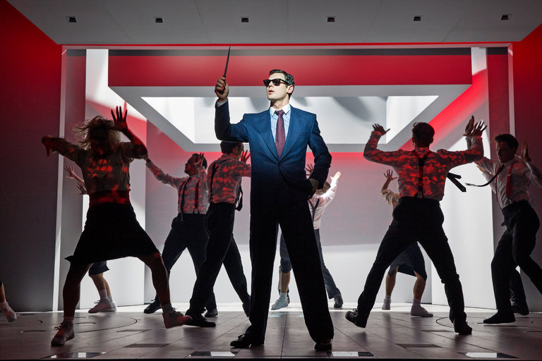 """""""American Psycho"""" written for the stage by Roberto Aguirre-Sacasa. Photo Sara Krulwich/The New York Times"""
